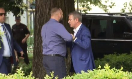 VIDEO: Tensione jashtë Kuvendit, Halit Valteri tenton t'i gjuajë Damian Gjiknurit