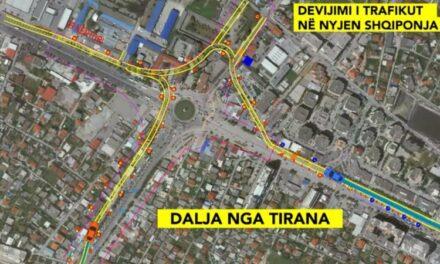 """Si hyn dhe del nga Tirana që nesër/ Mbyllja e """"Shqiponjës"""" që nga mesnata dhe devijimi i trafikut për 4 muajt në vijim"""