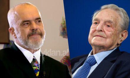 """""""Kam raport fantastik"""", Edi Rama: Ju tregoj lidhjen time me George Soros"""