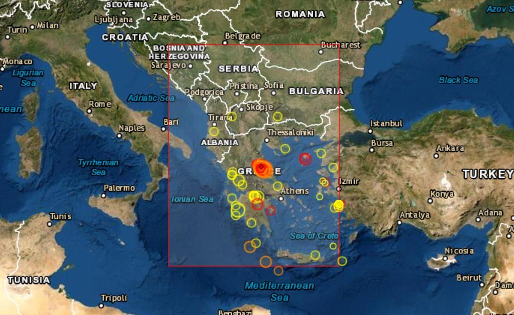 Tjetër tërmet i fuqishëm në Greqi, lëkundje edhe në Shqipëri