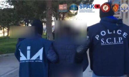 Operacion i SPAK dhe autoriteteve italiane kundër narkotikëve dhe pastrimit të parave, 38 të arrestuar