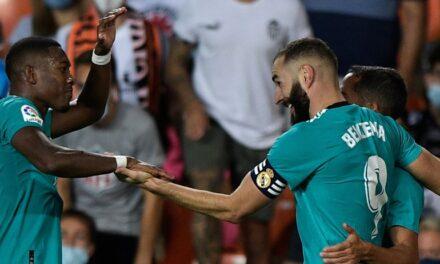 Dyshja Benzema-Vinicius përmbys Valencian, Real merr kryesimin